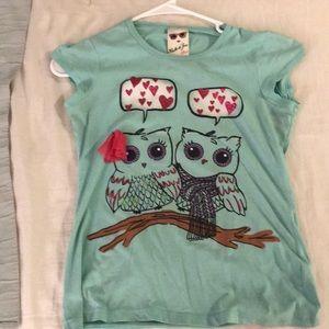 Turquoise Owl shirt